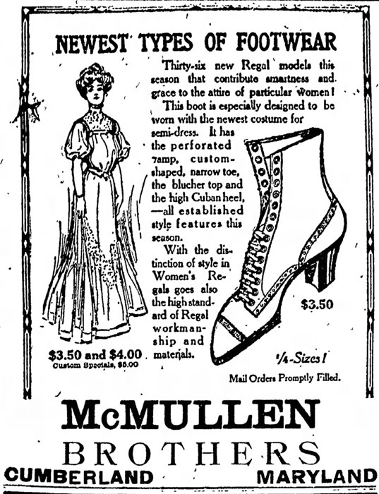 McMullen Brothers Advertisement - 1909